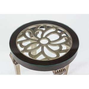 """Artmax - End Table with Glass 25x25x25"""""""