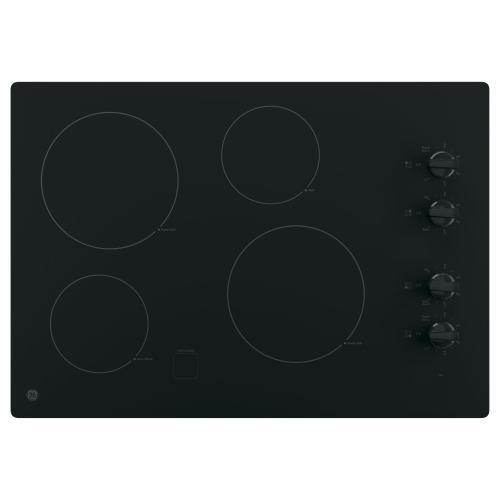 """Gallery - GE 30"""" Electric Smoothtop Cooktop Black JP3030DJBB"""