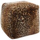 """Fur Fl102 Brown 16"""" X 16"""" X 17"""" Pouf Product Image"""