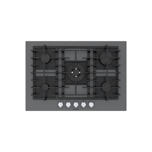 Bosch Canada - Benchmark® Gas Cooktop 30'' Tempered glass, dark silver NGMP077UC