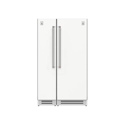 "Hestan - 48"" Column Freezer (L) and Refrigerator ® Ensemble Refrigeration Suite - Froth"