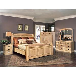 A AmericaKing Arch Panel Bed