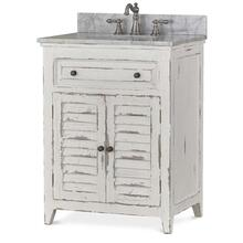 Shutter Vanity with sink and marble top