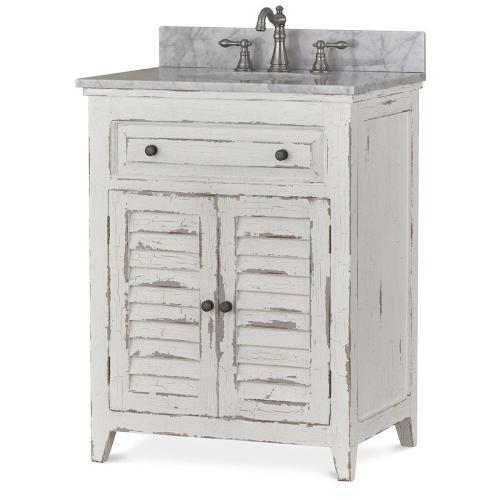 Shutter Vanity w/ Sink & Marble Top