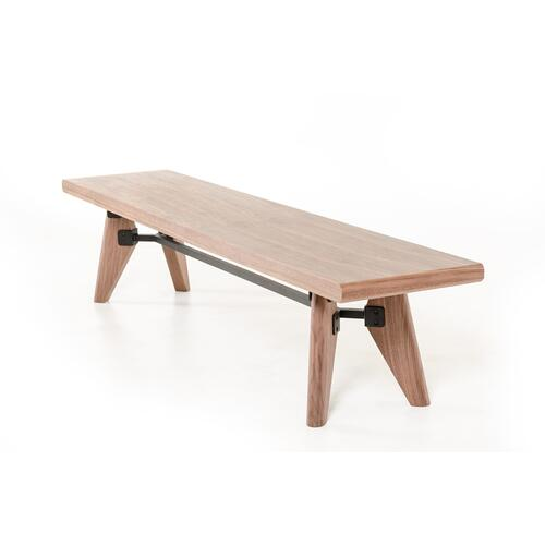 Modrest Kennedy Modern Walnut Dining Bench