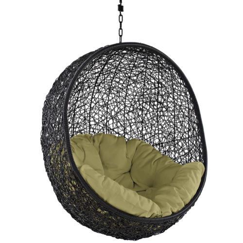 Encase Swing Outdoor Patio Lounge Chair in Peridot