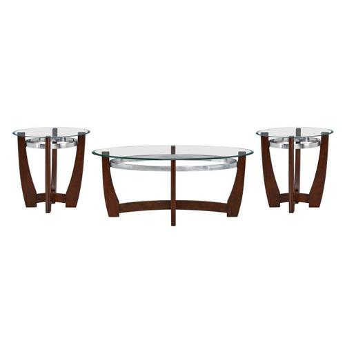 Apollo Occasional Table 3-Pack, Brown