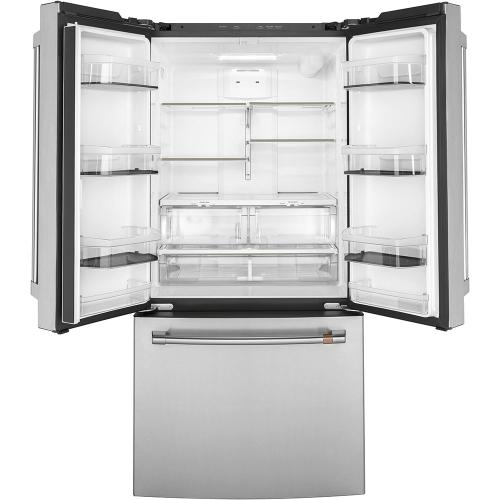 Café ™ 18.6 Cu. Ft. Counter-Depth French-Door Refrigerator Stainless Steel