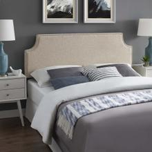 Laura Full Upholstered Fabric Headboard in Beige