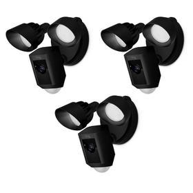 3-Pack Floodlight Cams - Black