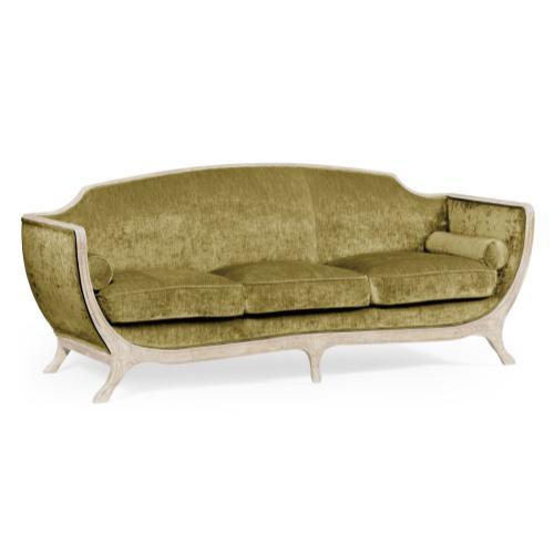 Empire style sofa (Limed Tulip Wood/Velvet Lime)