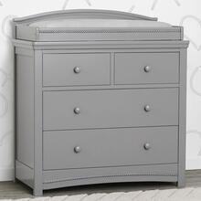 Emma 4 Drawer Dresser with Changing Top - Grey (026)
