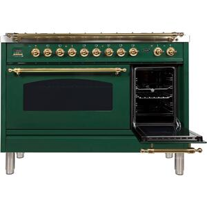 48 Inch Emerald Green Dual Fuel Natural Gas Freestanding Range