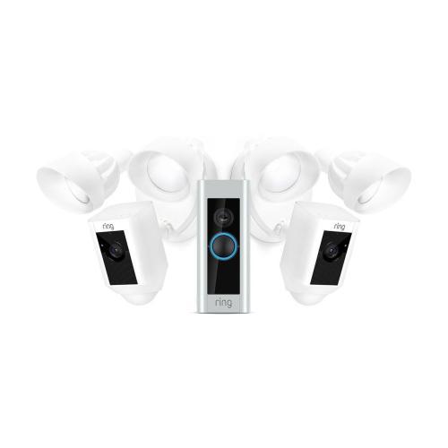 Everyday Pro Bundle (for Video Doorbell Pro with 2 Floodlight Cameras) - Black: Video Doorbell Pro Ships 1/17 - 1/20. Floodlight Cam Black Ships 1/19 - 1/21