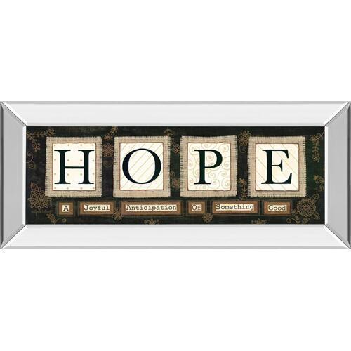 """""""Hope"""" By Anne Lapoint Mirrored Framed Print Wall Art"""