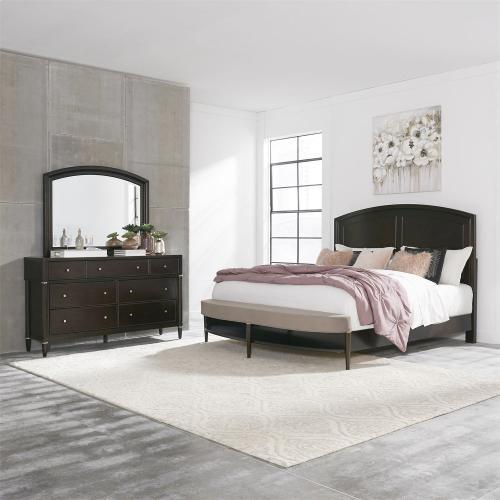 Opt Queen Panel Bed, Dresser & Mirror