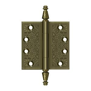 "Deltana - 4"" x 4"" Square Hinges - Antique Brass"