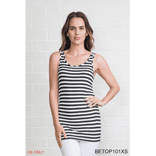 Body Esteem Stripe Neutral Tank - XS (3 pc. ppk.)