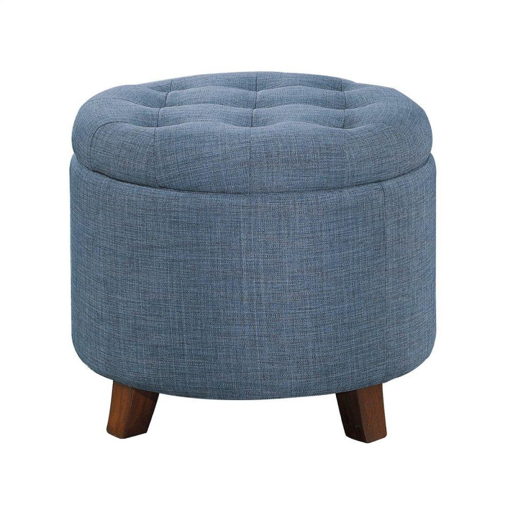 Storage Ottoman, Blue Gray