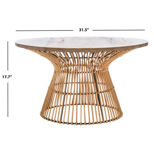 Safavieh - Whent Round Coffee Table - Natural/black