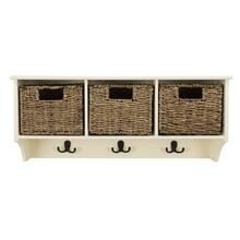 See Details - Finley Hanging 3 Basket Wall Rack - White
