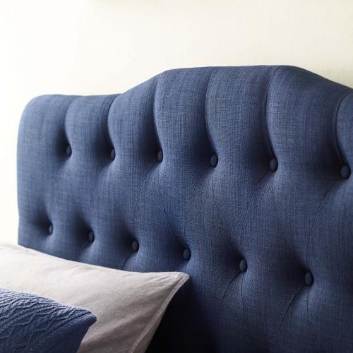 Annabel Full Upholstered Fabric Headboard in Navy
