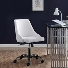 Designate Swivel Vegan Leather Office Chair in Black White