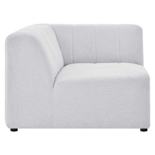 Bartlett Upholstered Fabric Corner Chair in Ivory
