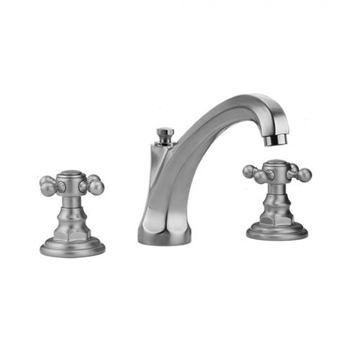 Jaclo - Antique Copper - Westfield High Profile Faucet with Ball Cross Handles & Fully Polished & Plated Pop-Up Drain