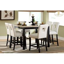 See Details - 5PC SET (Counter Height Table, Faux Marble Top with 4 Stools)