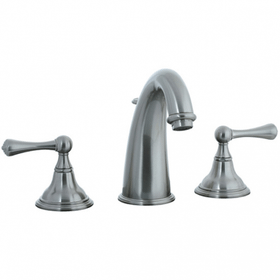 Asbury - 3 Hole Hi-Arch Widespread Lavatory Faucet - Aged Brass