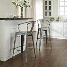 30 IN. Amelia Metal Cafe Barstool (with Back)