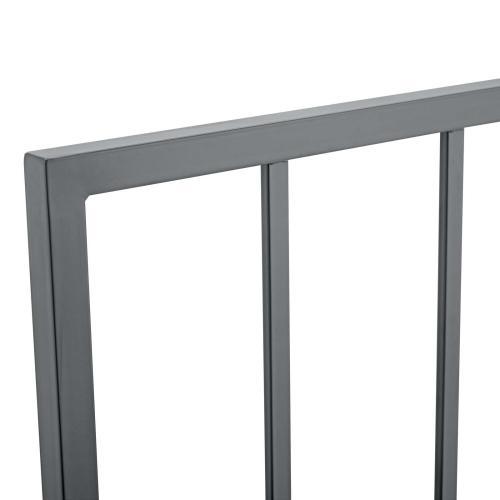 Tatum Twin Metal Headboard in Gray