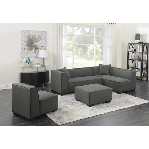 Emerald Home Lonnie Modular Loveseat Cinder Gray U4331-11-03