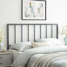 Tatum King Metal Headboard in Gray
