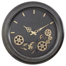 See Details - Black Round Gear Clock