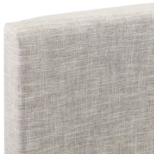 Taylor King and California King Upholstered Linen Fabric Headboard in Beige