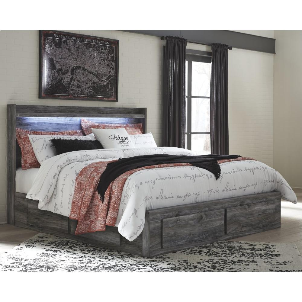 Baystorm King Panel Bed With 4 Storage Drawers