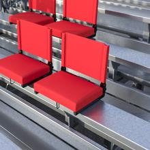 See Details - Grandstand Comfort Seats by Flash - 500 lb. Rated Lightweight Stadium Chair with Handle & Ultra-Padded Seat, Red
