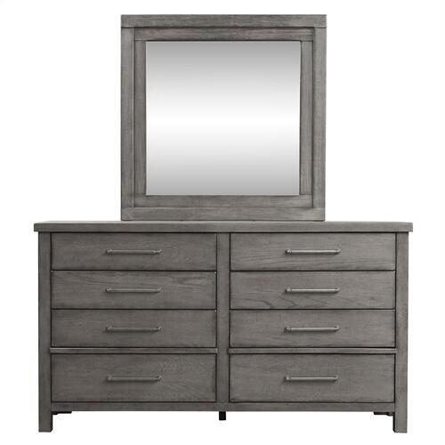King Storage Bed, Dresser & Mirror, N/S