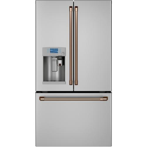 Cafe - Café™ ENERGY STAR® 22.1 Cu. Ft. Smart Counter-Depth French-Door Refrigerator with Keurig® K-Cup® Brewing System