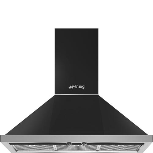 "36"" Portofino Chimney Hood, Matte Black"