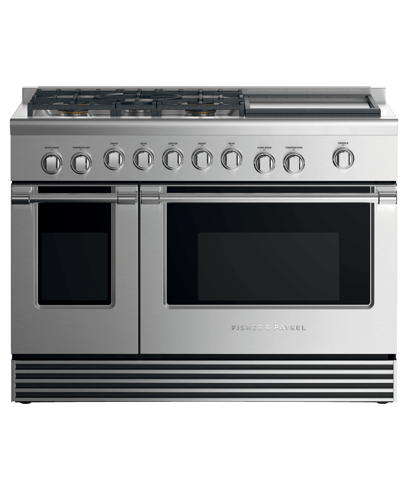 """Fisher & PaykelDual Fuel Range, 48"""", 5 Burners With Griddle"""