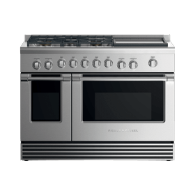 "Dual Fuel Range, 48"", 5 Burners with Griddle, LPG"