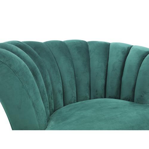 Divani Casa Arvada Modern Green Velvet Lounge Chair