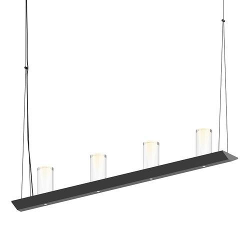 "Sonneman - A Way of Light - Votives LED Bar Pendant [Size=3', Color/Finish=Satin Black, Shade Size=4"" height x 2"" diameter]"