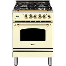 "24"" Inch Antique White Liquid Propane Freestanding Range"
