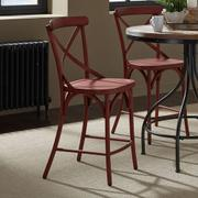 X Back Counter Chair - Red Product Image