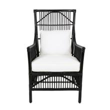 Winston Rattan High Back Arm Chair - Black