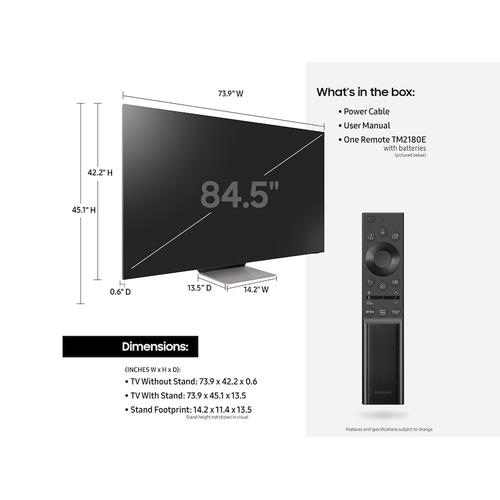 """Product Image - 85"""" QN900A Samsung Neo QLED 8K Smart TV (2021)"""